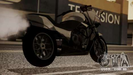 GTA 5 Dinka Thrust para GTA San Andreas esquerda vista