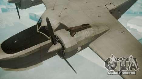 Grumman G-21 Goose Grey para GTA San Andreas vista direita