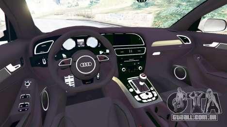 GTA 5 Audi RS4 Avant 2014 traseira direita vista lateral