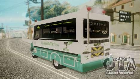 Chevrolet B70 Bus Colombia para GTA San Andreas esquerda vista