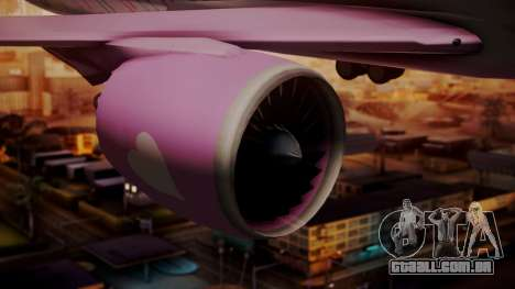 Boeing 787-9 LoveLive Livery para GTA San Andreas vista direita