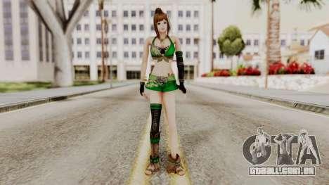 Dynasty Warriors 8 - Bao Sannian Green Costume para GTA San Andreas segunda tela