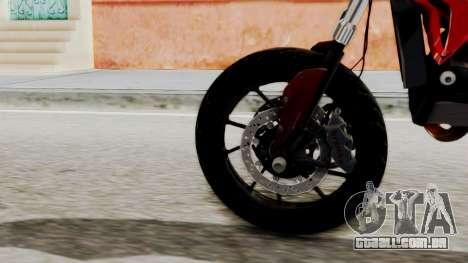 Ducati Hypermotard para GTA San Andreas traseira esquerda vista