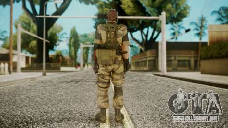 Venom Snake Tiger Stripe para GTA San Andreas terceira tela