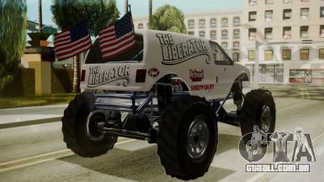 GTA 5 Vapid The Liberator para GTA San Andreas esquerda vista