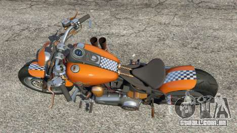 GTA 5 Harley-Davidson Fat Boy Lo Racing Bobber v1.2 voltar vista