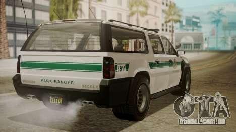 GTA 5 Declasse Granger Park Ranger IVF para GTA San Andreas esquerda vista