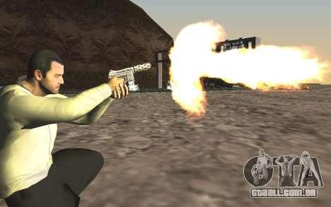 GTA 5 Tec-9 para GTA San Andreas quinto tela