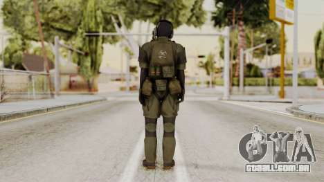 MGSV Ground Zero MSF Soldier para GTA San Andreas terceira tela
