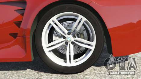 GTA 5 BMW M6 (E63) traseira direita vista lateral