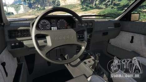 GTA 5 Audi Sport quattro v1.4 traseira direita vista lateral