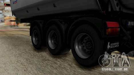 Schmied Bigcargo Solid Trailer Stock para GTA San Andreas traseira esquerda vista
