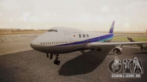 Boeing 747SR All Nippon Airways (NC) para GTA San Andreas esquerda vista