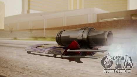 Hovercraft Anime para GTA San Andreas esquerda vista