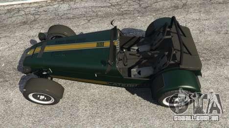 GTA 5 Caterham Super Seven 620R voltar vista