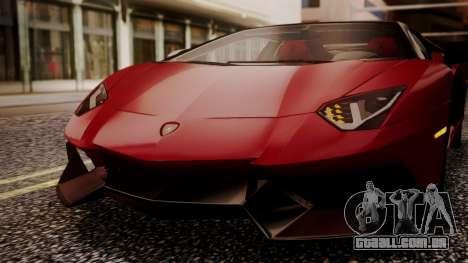 Lamborghini Aventador MV.1 para vista lateral GTA San Andreas