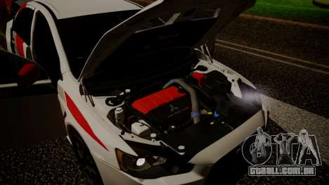 Mitsubishi Lancer Evolution X 2015 Final Edition para GTA San Andreas vista interior