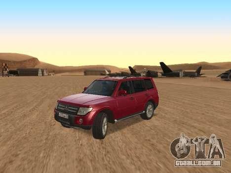 Mitsubishi Pajero para GTA San Andreas esquerda vista