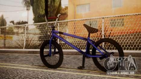 Nueva BMX para GTA San Andreas esquerda vista