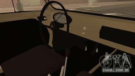 Vespa 400 1958 para GTA San Andreas vista direita