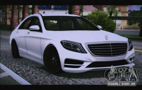 Mercedes Benz S63 W222 Itens De Qualidade para GTA San Andreas vista traseira
