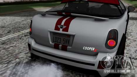 Mini Cooper S Weeny Issi para GTA San Andreas vista traseira