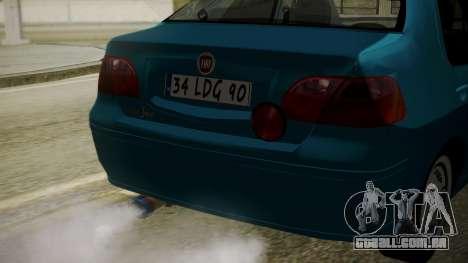 Fiat Albea Sole para GTA San Andreas vista traseira