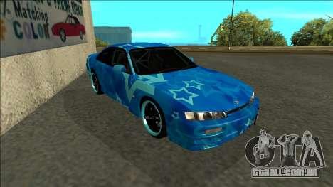 Nissan Silvia S14 Drift Blue Star para GTA San Andreas esquerda vista