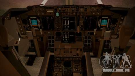 Boeing 747SP ER Airways para GTA San Andreas vista traseira
