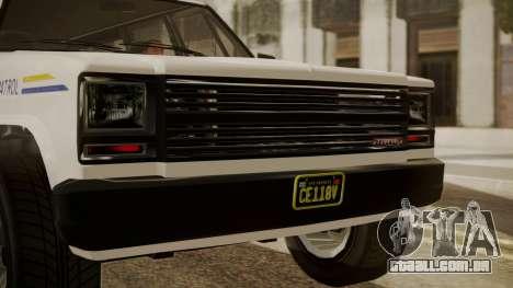 GTA 5 Declasse Rancher XL Police IVF para GTA San Andreas vista traseira