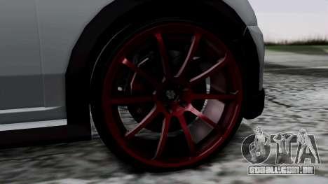 Mini Cooper S Weeny Issi para GTA San Andreas traseira esquerda vista