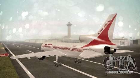 Lockheed L-1011 Air India para GTA San Andreas esquerda vista