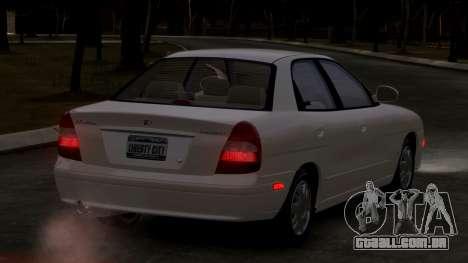 Daewoo Nubira II Sedan SX USA 2000 para GTA 4 vista direita