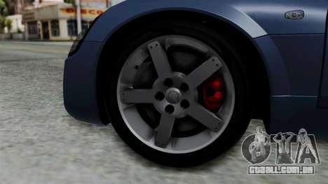Opel Speedster Turbo 2004 Stock para GTA San Andreas traseira esquerda vista
