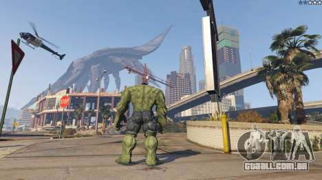 GTA 5 The Hulk terceiro screenshot