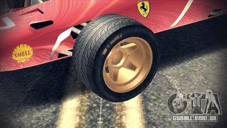 Ferrari 312 F1 para GTA San Andreas vista direita
