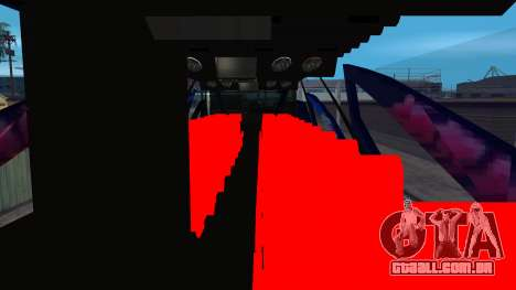 Bus in Thailand para GTA San Andreas vista direita