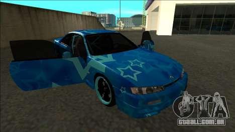 Nissan Silvia S14 Drift Blue Star para vista lateral GTA San Andreas