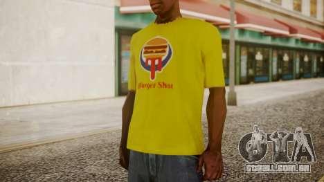 Burger Shot T-shirt Yellow para GTA San Andreas segunda tela