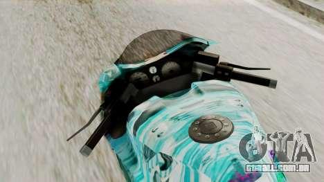 Bati Motorcycle Hatsune Miku Itasha para GTA San Andreas vista traseira