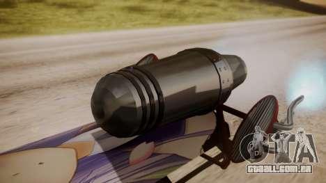 Hovercraft Anime para GTA San Andreas traseira esquerda vista
