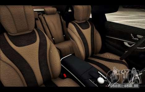 Mercedes Benz S63 W222 Itens De Qualidade para GTA San Andreas interior