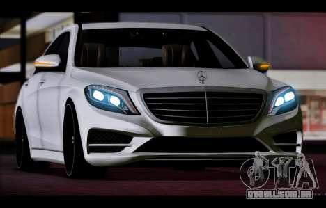 Mercedes Benz S63 W222 Itens De Qualidade para GTA San Andreas esquerda vista
