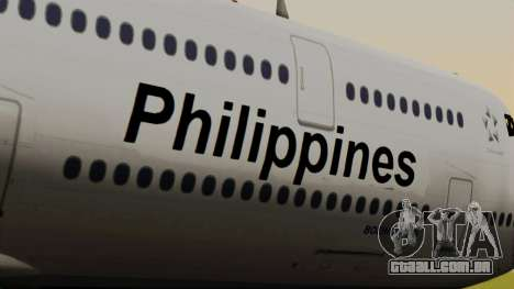 Boeing 747-8I Philippine Airlines para GTA San Andreas vista traseira