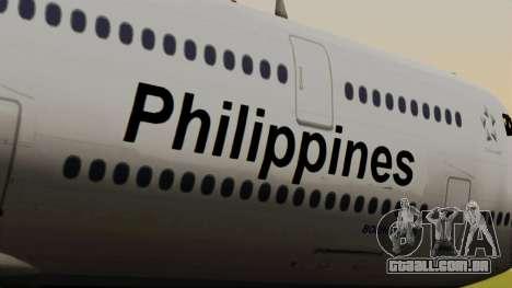 Boeing 747-8I Philippine Airlines para GTA San Andreas vista traseira