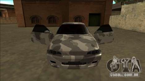 Nissan Skyline R32 Army Drift para GTA San Andreas vista interior