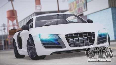 Audi R8 GT 2012 Sport Tuning V 1.0 para o motor de GTA San Andreas