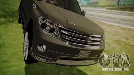 Nissan Patrol IMPUL 2014 para GTA San Andreas vista interior