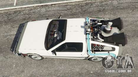 GTA 5 DeLorean DMC-12 Back To The Future v0.5 voltar vista