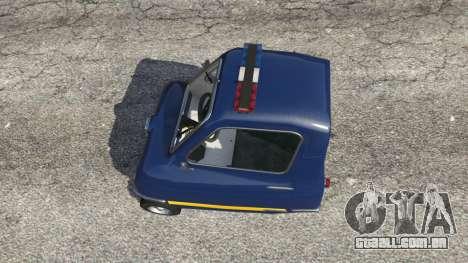 GTA 5 Peel P50 Police traseira direita vista lateral